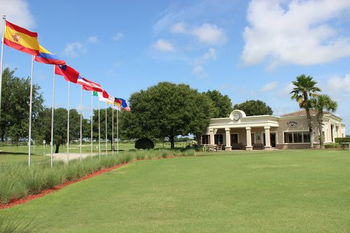 Flags in front of David Leadbetter Academy  (1)