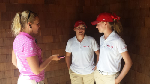 Sofia interviews future Tennessee teammates Anna Newell and Shannon Brooks (1)