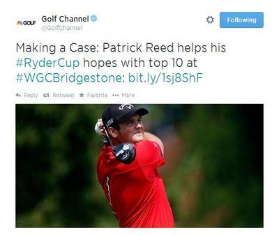 Patrick Reed Tweet