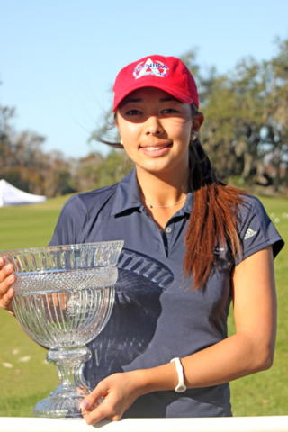 Alison Lee with trophy